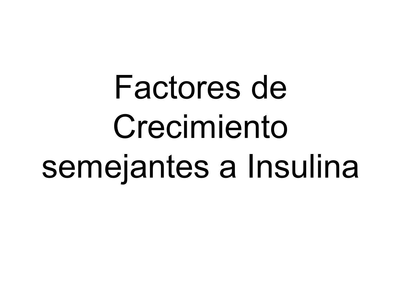 Factores de Crecimiento semejantes a Insulina