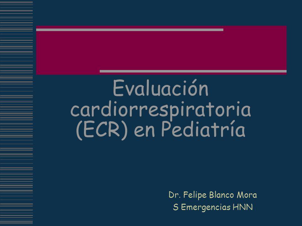 Evaluación cardiorrespiratoria (ECR) en Pediatría