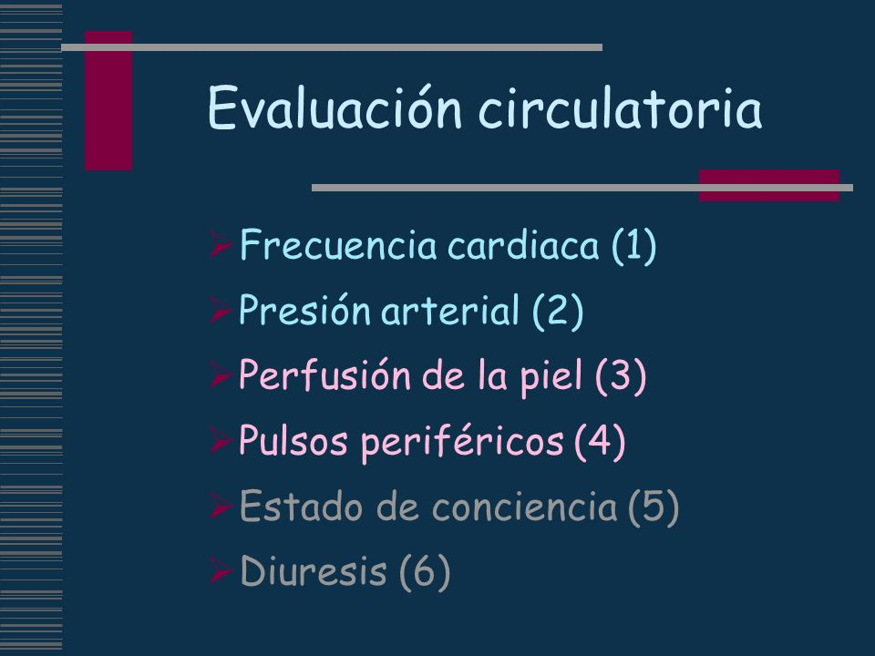 Evaluación circulatoria
