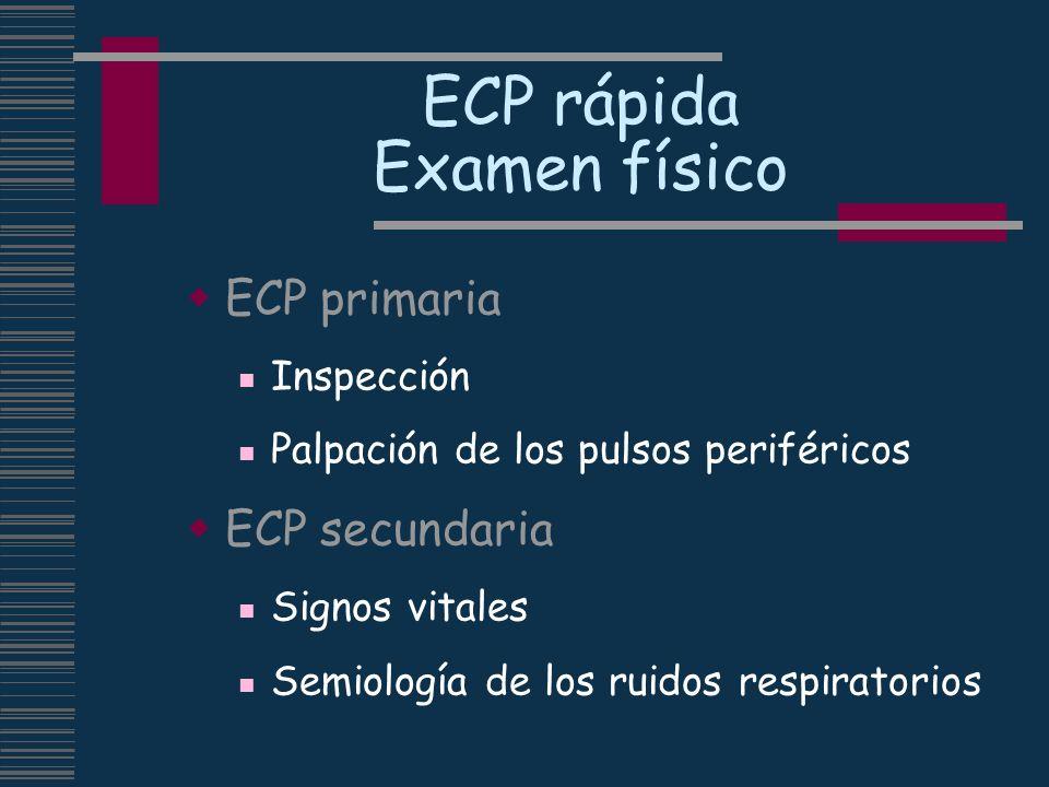 ECP rápida Examen físico