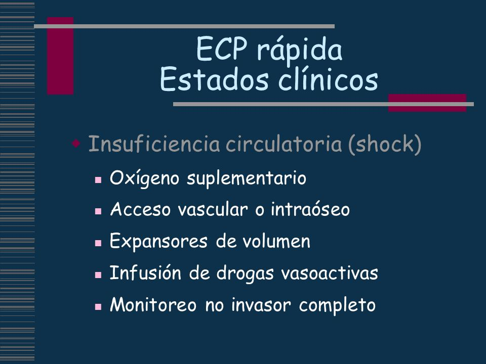 ECP rápida Estados clínicos
