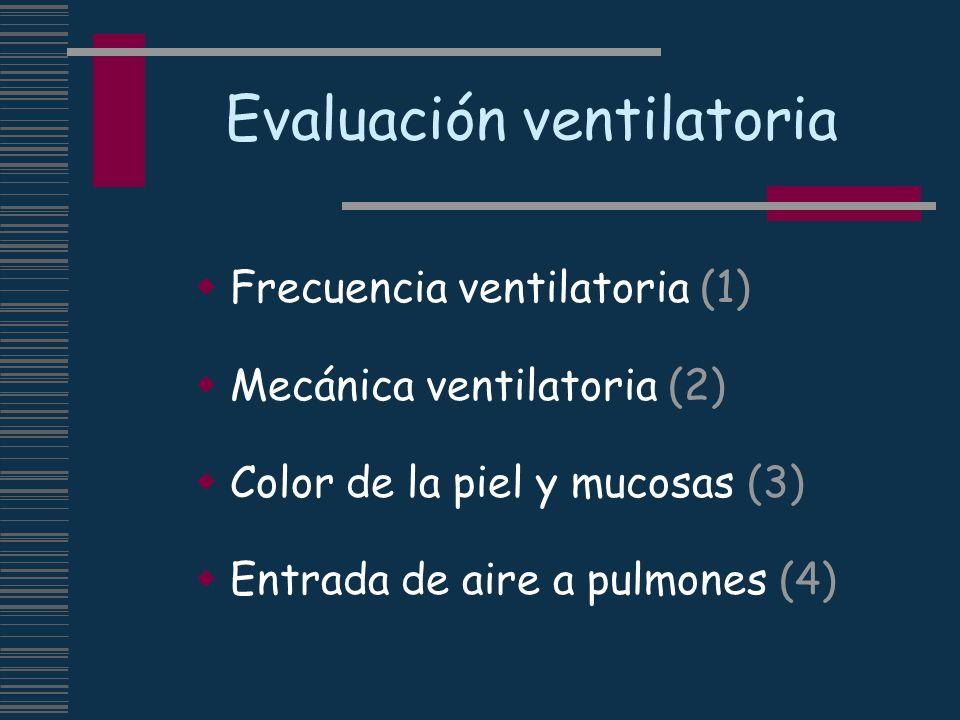 Evaluación ventilatoria