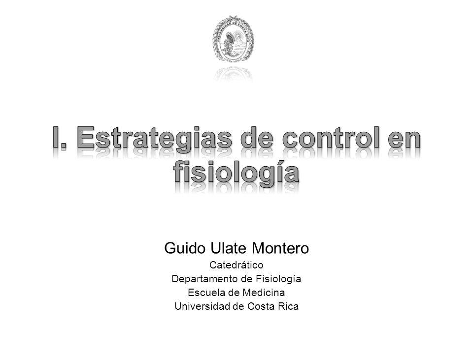 I. Estrategias de control en fisiología