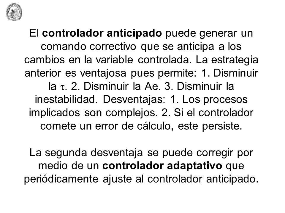 El controlador anticipado puede generar un comando correctivo que se anticipa a los cambios en la variable controlada.