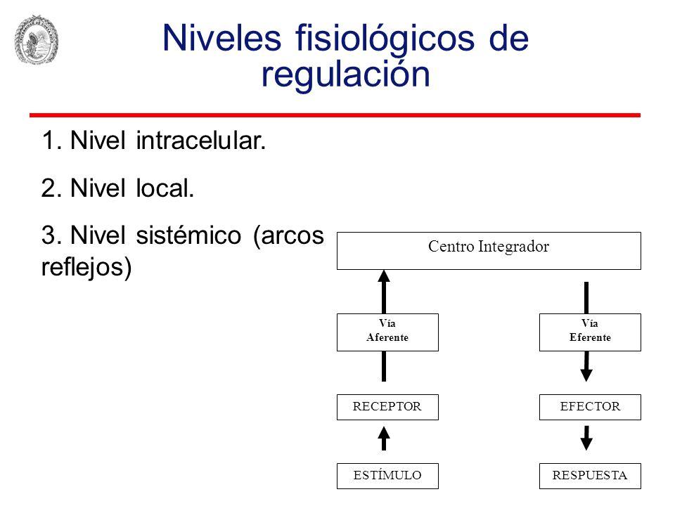 Niveles fisiológicos de regulación