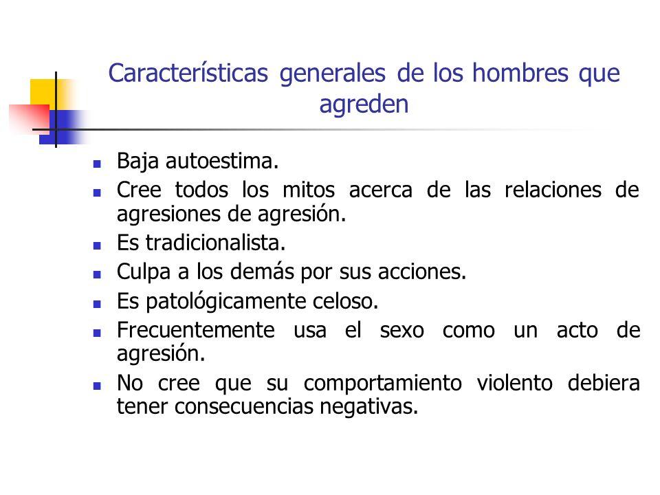 Características generales de los hombres que agreden