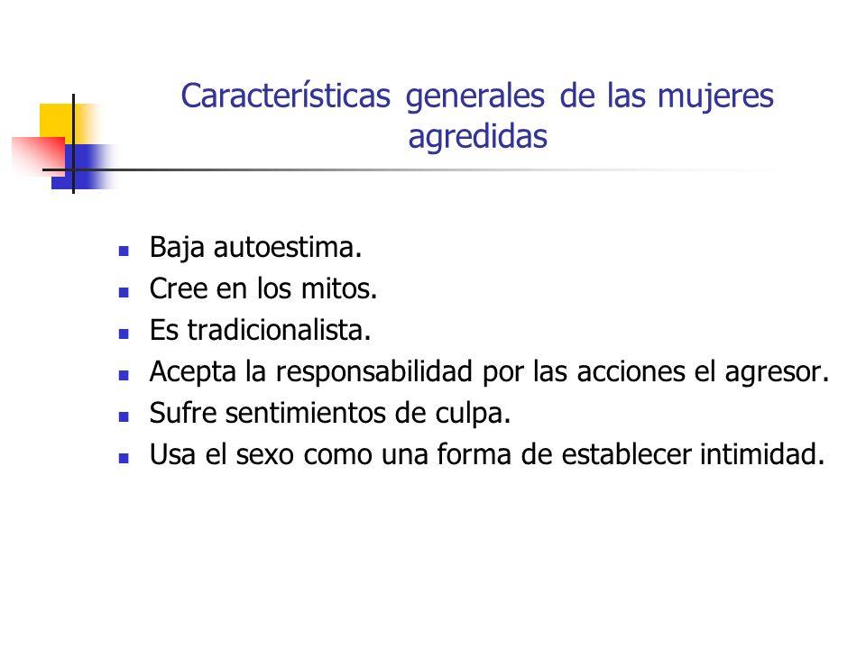 Características generales de las mujeres agredidas