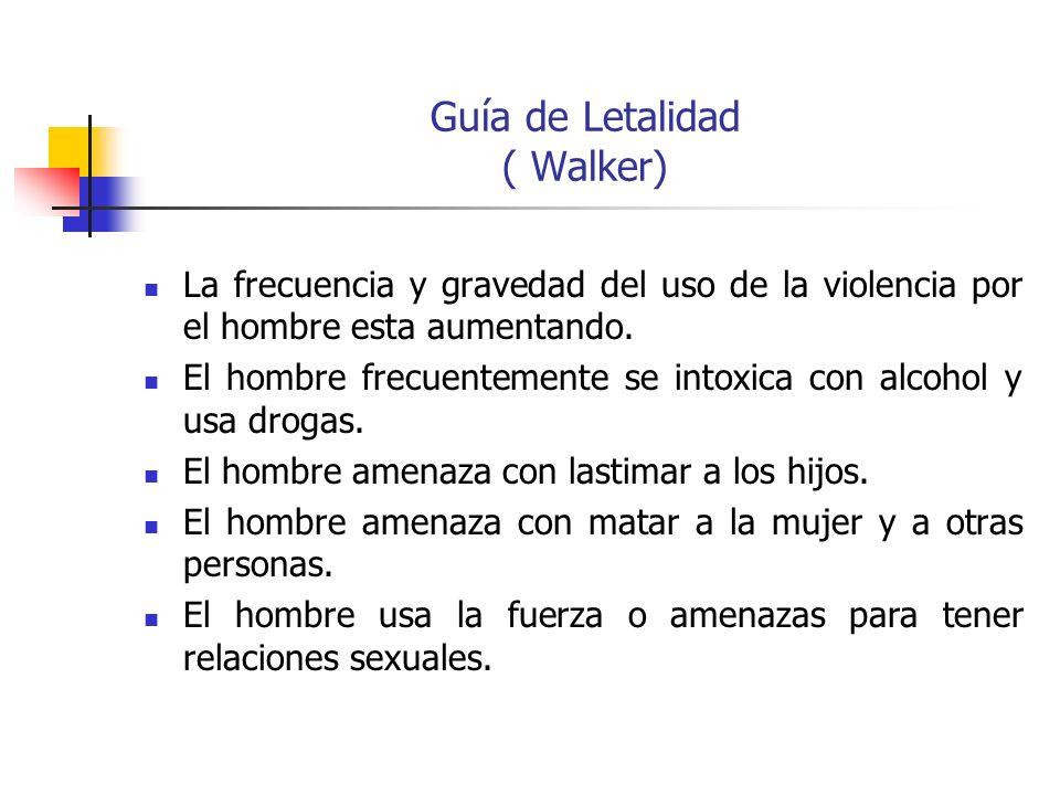 Guía de Letalidad ( Walker)