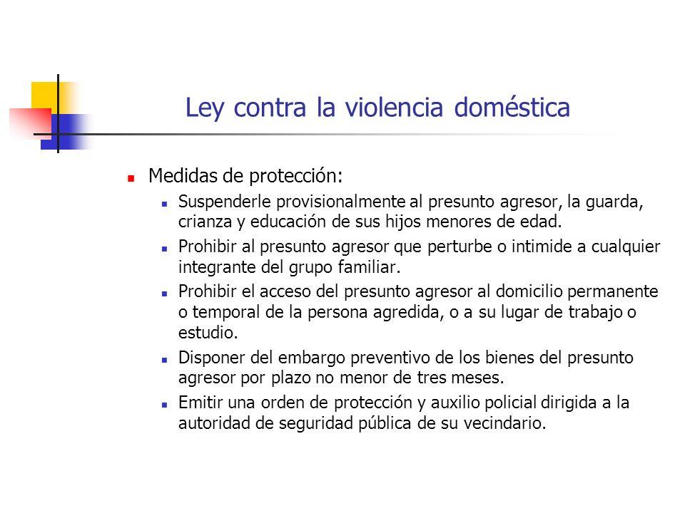 Ley contra la violencia doméstica