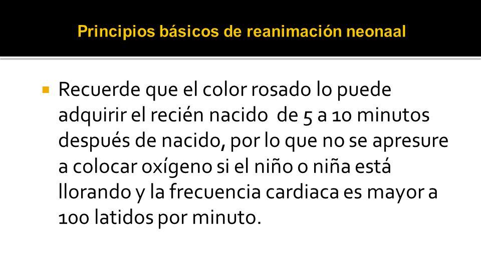 Principios básicos de reanimación neonaal