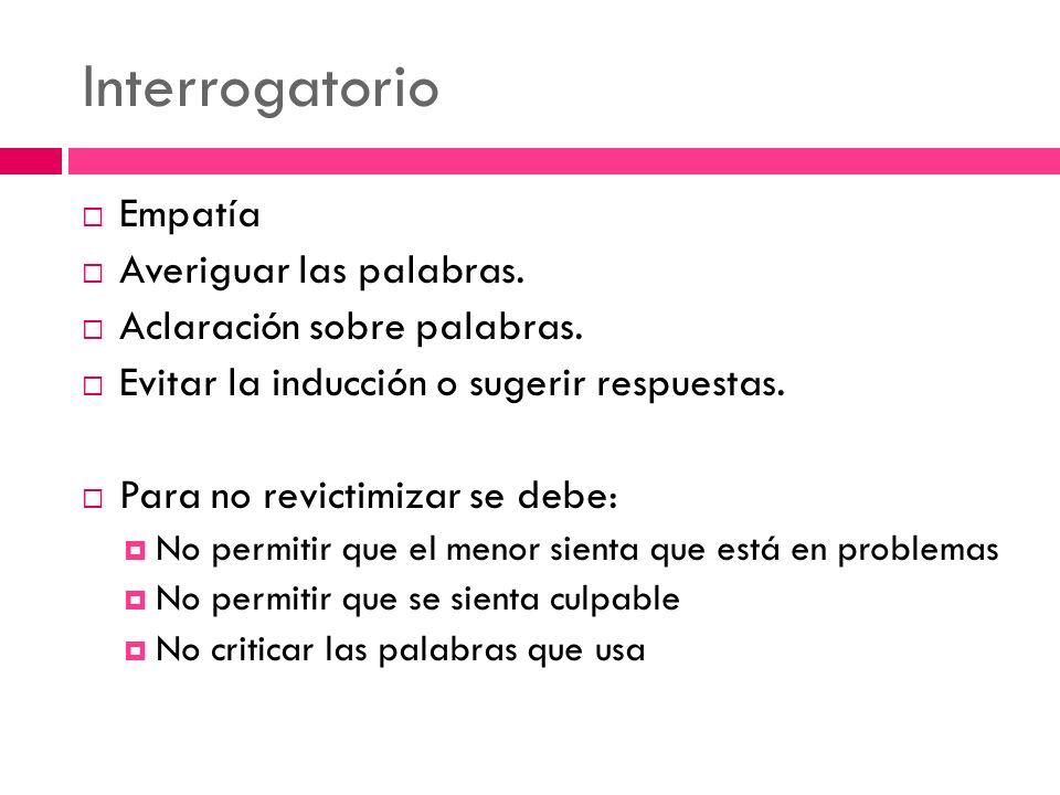 Interrogatorio Empatía Averiguar las palabras.