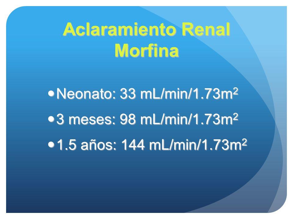 Aclaramiento Renal Morfina