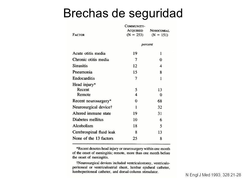 Brechas de seguridad N Engl J Med 1993; 328:21-28
