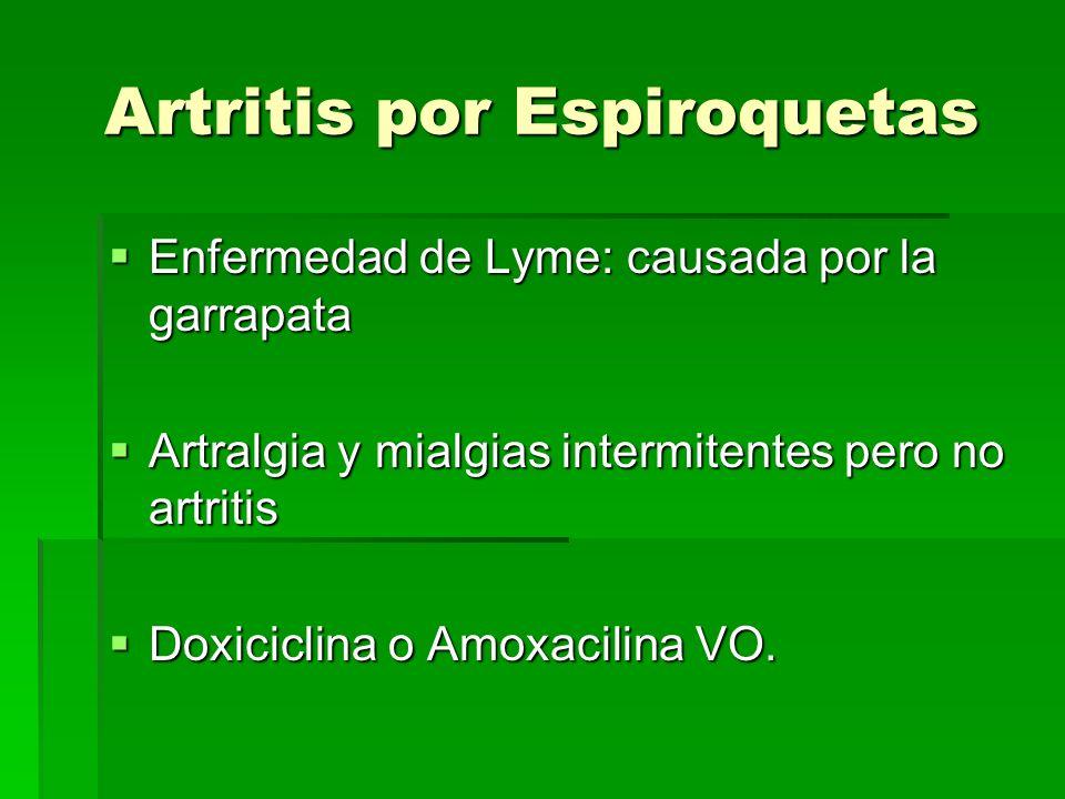 Artritis por Espiroquetas
