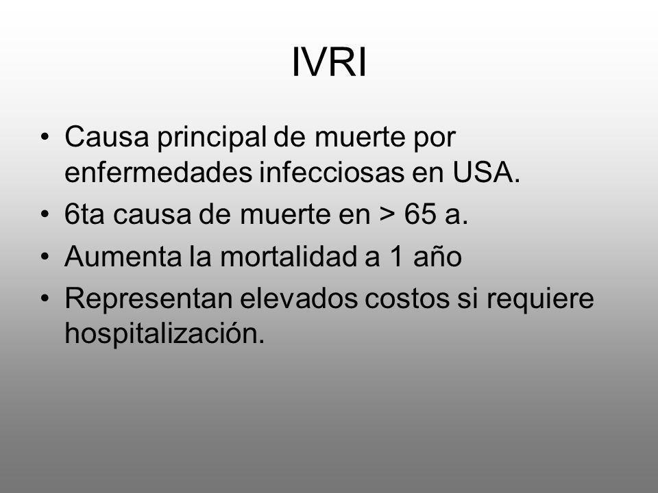 IVRI Causa principal de muerte por enfermedades infecciosas en USA.