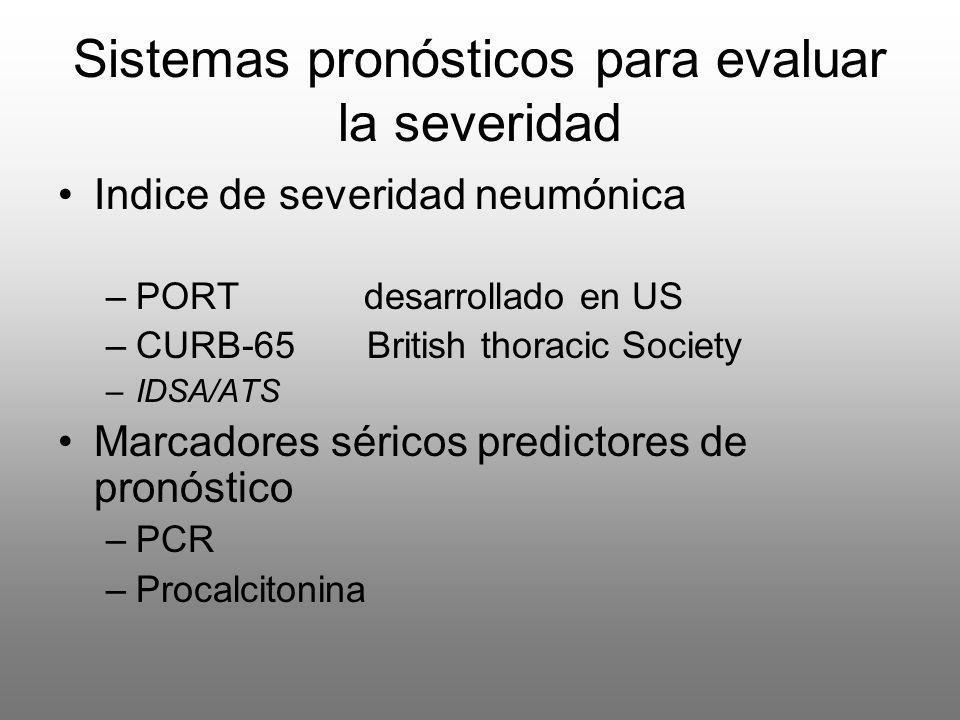 Sistemas pronósticos para evaluar la severidad