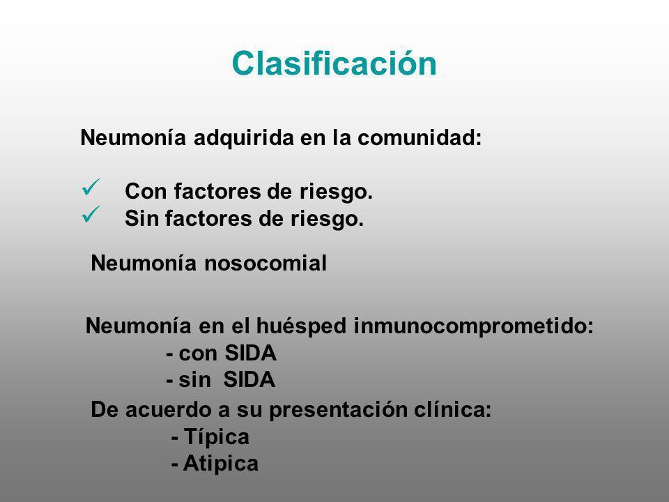 Clasificación Neumonía adquirida en la comunidad: