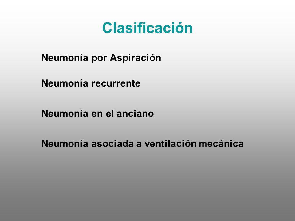 Clasificación Neumonía por Aspiración Neumonía recurrente
