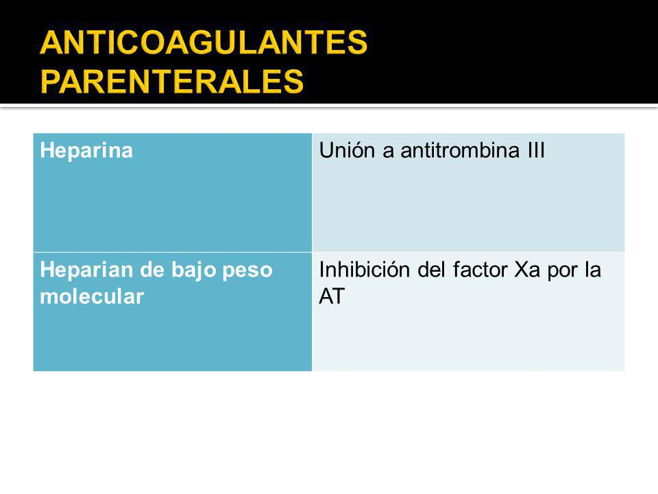 ANTICOAGULANTES PARENTERALES