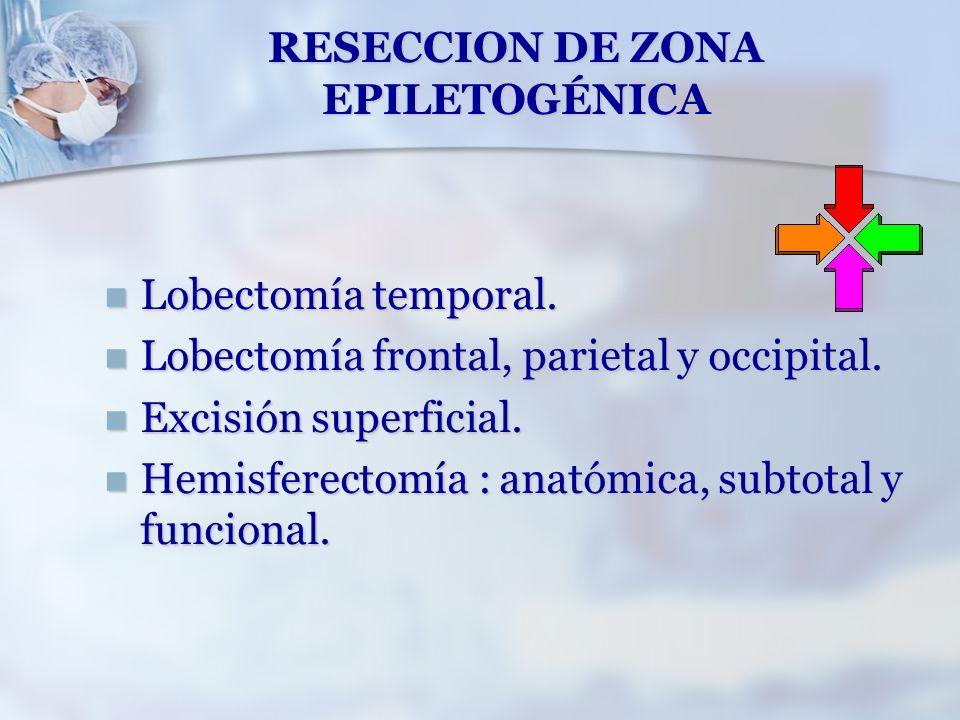 RESECCION DE ZONA EPILETOGÉNICA