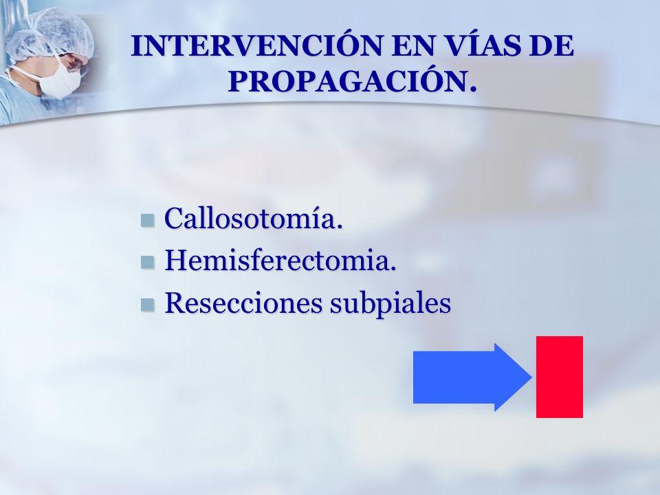 INTERVENCIÓN EN VÍAS DE PROPAGACIÓN.