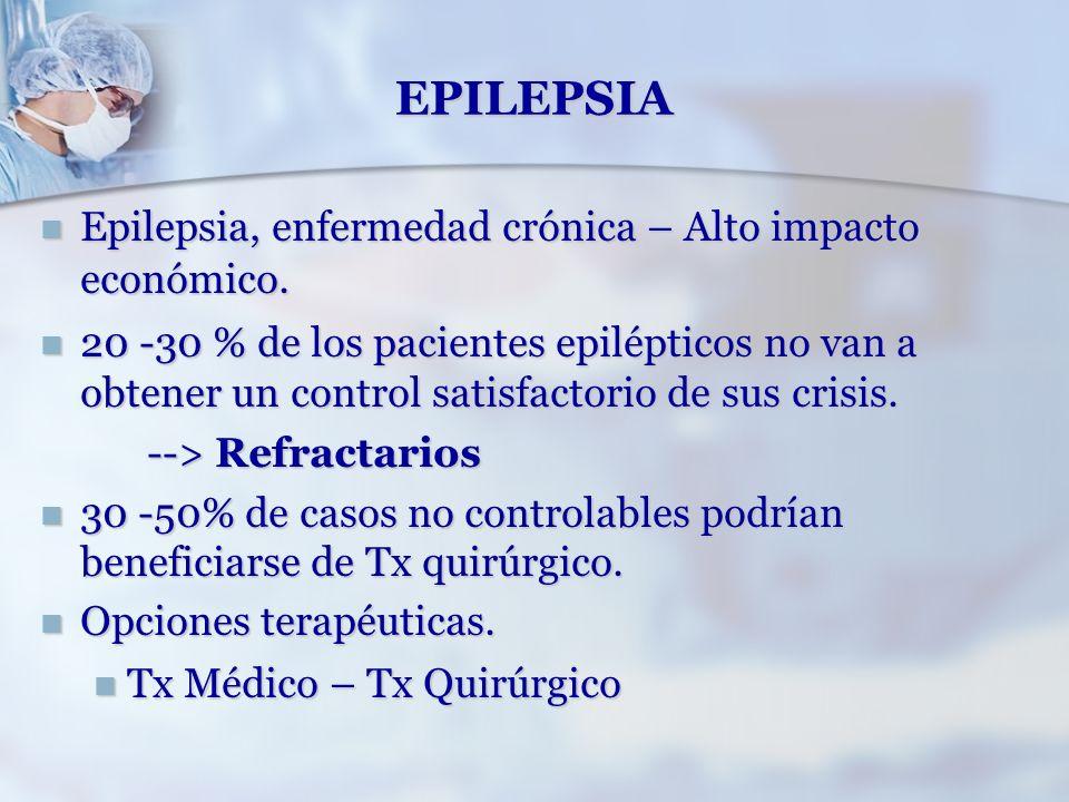 EPILEPSIA Epilepsia, enfermedad crónica – Alto impacto económico.