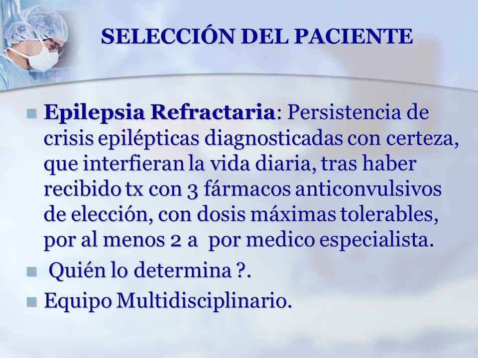 SELECCIÓN DEL PACIENTE