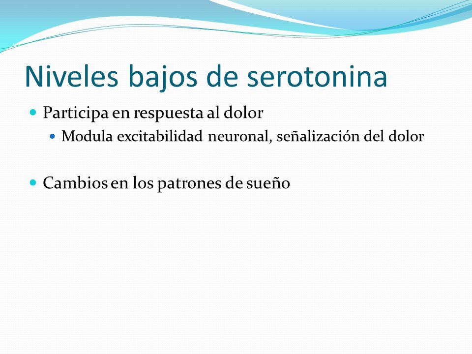 Niveles bajos de serotonina