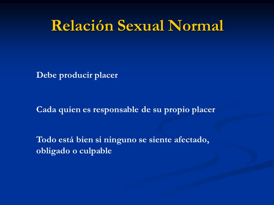 Relación Sexual Normal