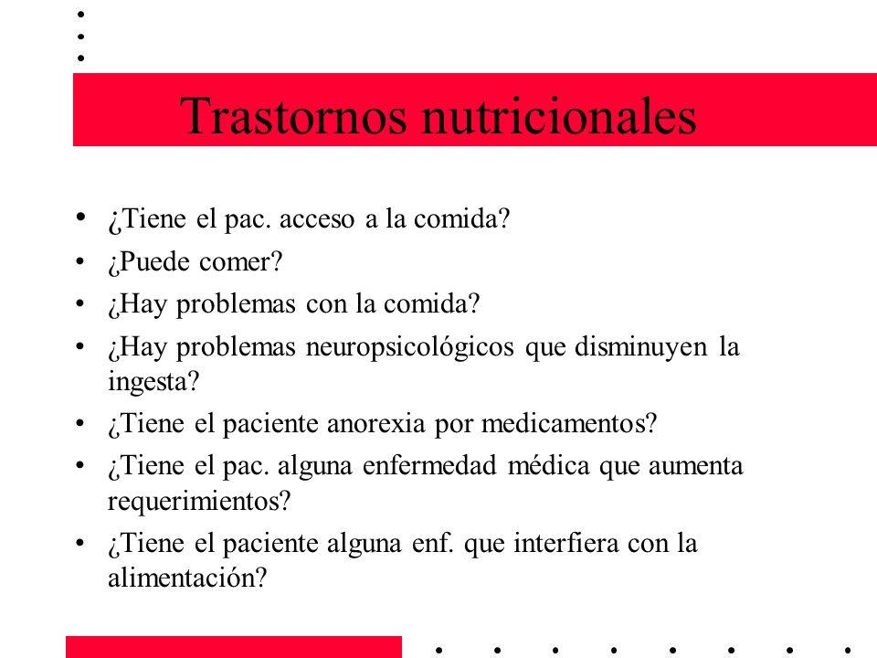 Trastornos nutricionales