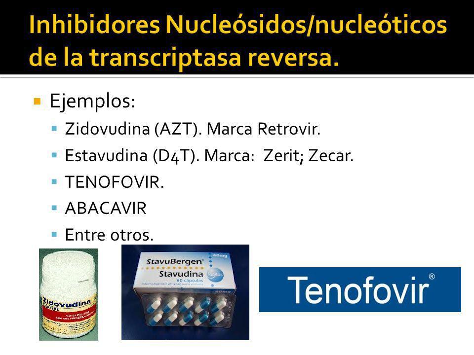Inhibidores Nucleósidos/nucleóticos de la transcriptasa reversa.