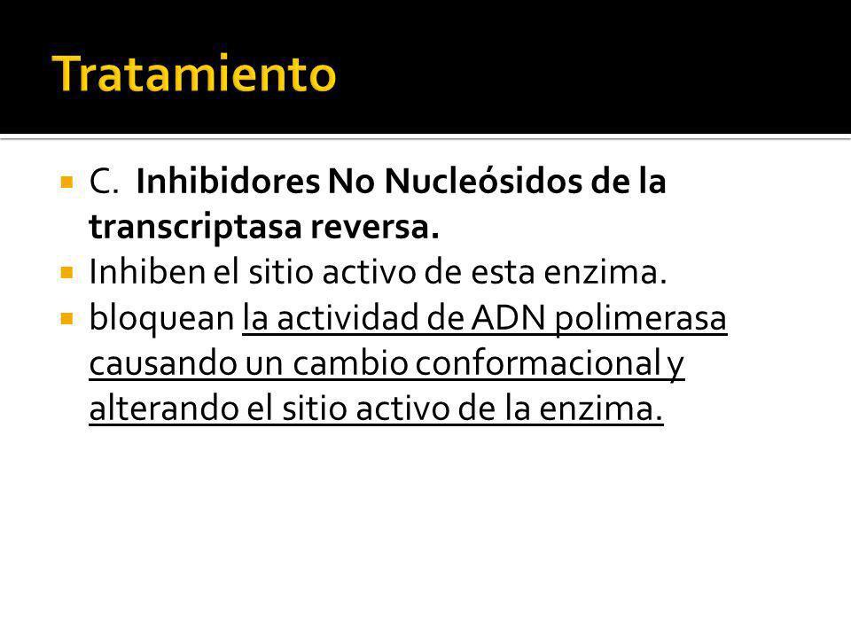 Tratamiento C. Inhibidores No Nucleósidos de la transcriptasa reversa.