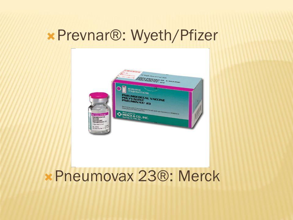 Prevnar®: Wyeth/Pfizer