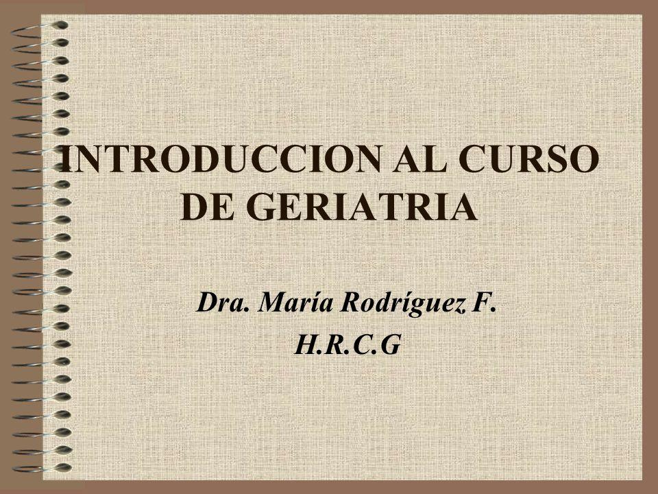 INTRODUCCION AL CURSO DE GERIATRIA