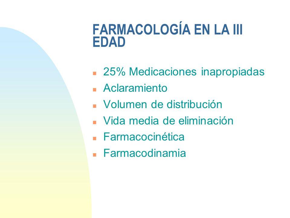 FARMACOLOGÍA EN LA III EDAD
