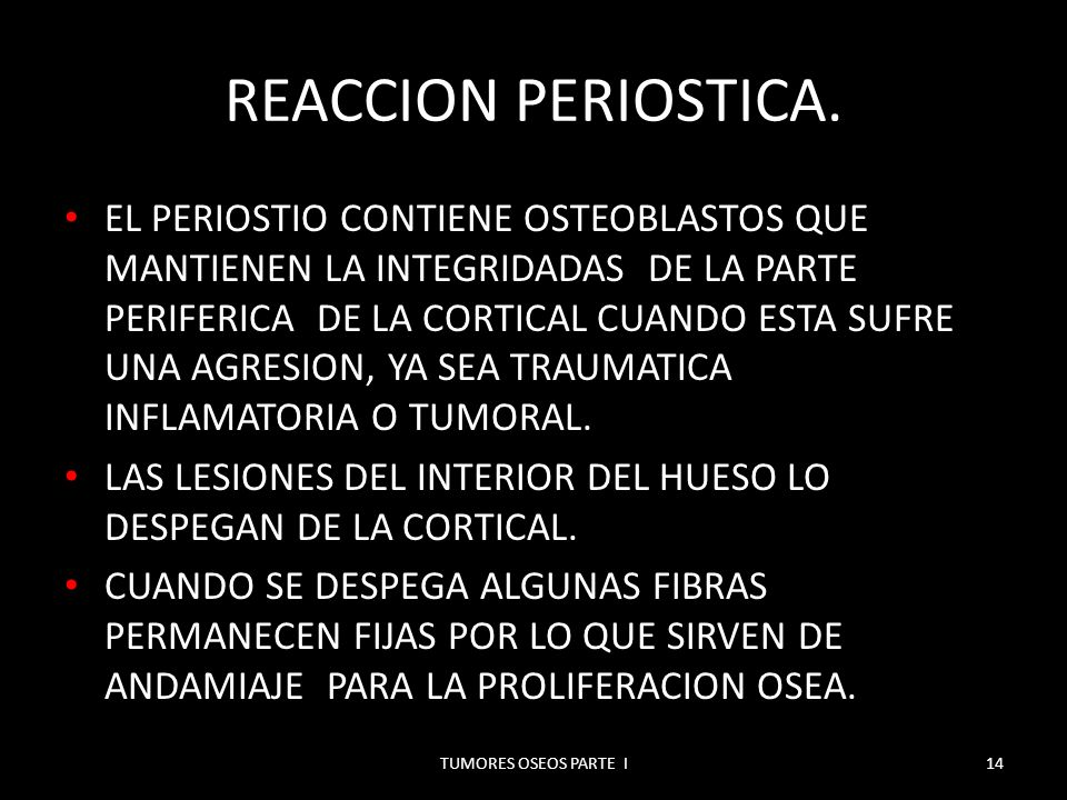 REACCION PERIOSTICA.
