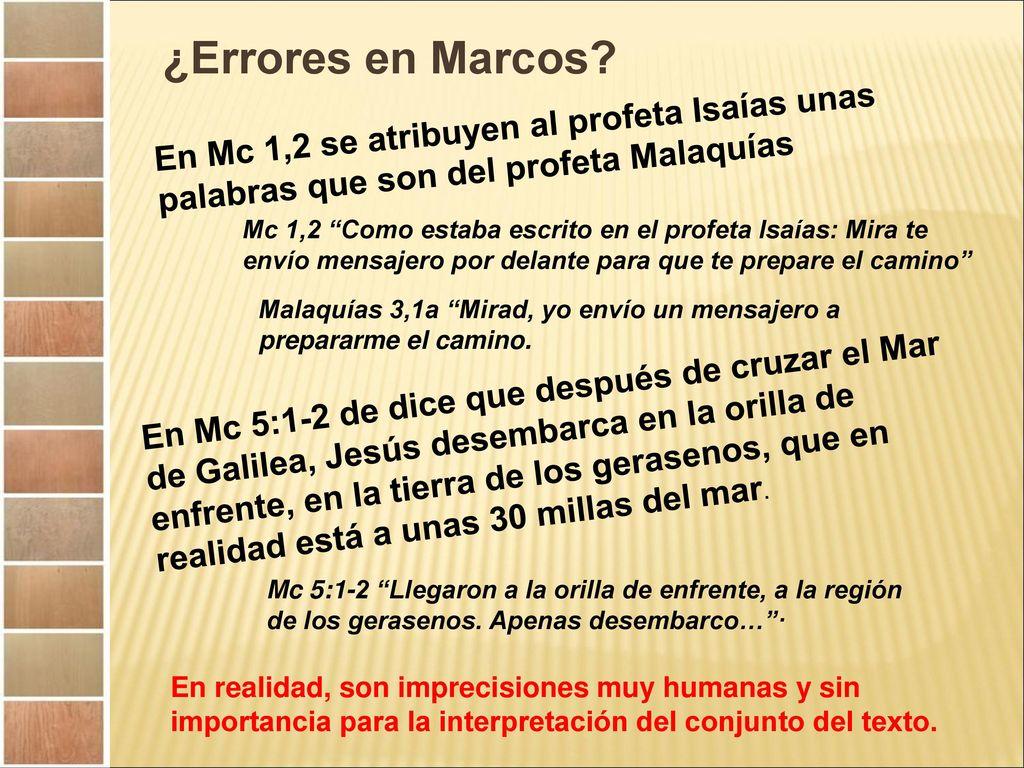 Introducción al Evangelio de Marcos. - ppt descargar