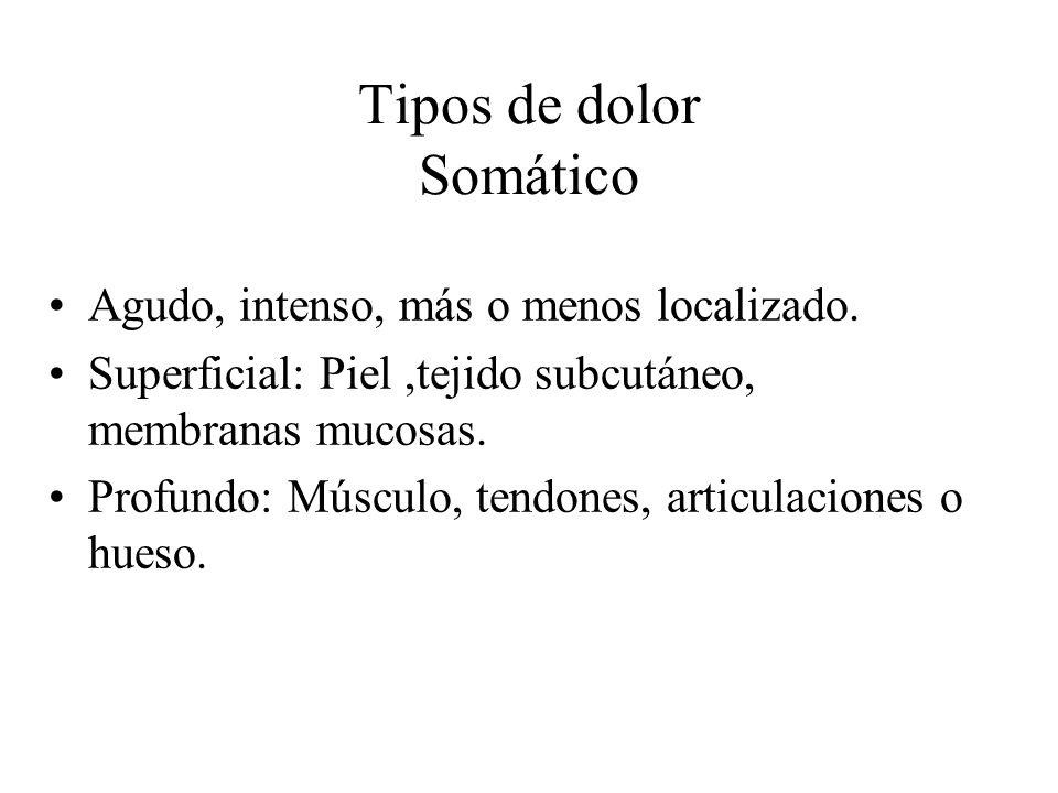 Tipos de dolor Somático
