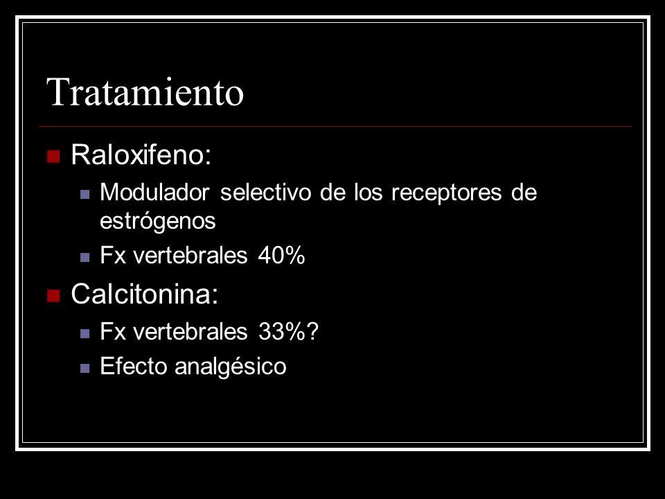 Tratamiento Raloxifeno: Calcitonina: