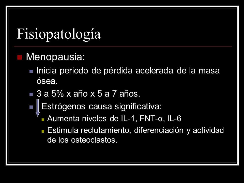 Fisiopatología Menopausia: