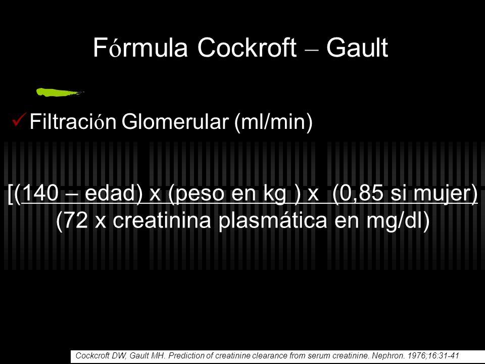 Fórmula Cockroft – Gault