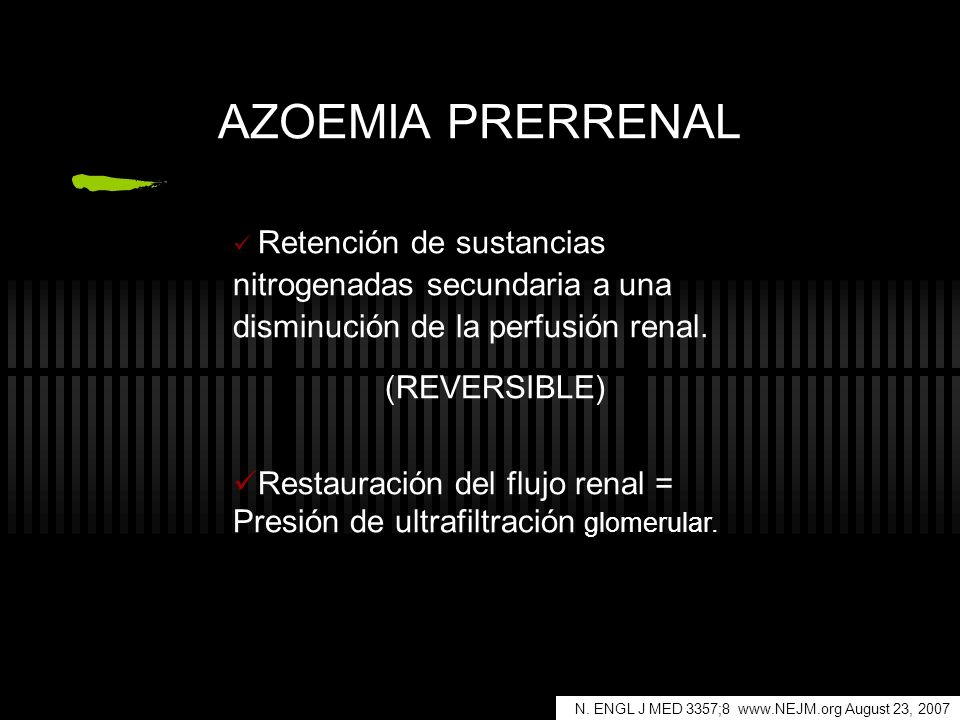 AZOEMIA PRERRENAL (REVERSIBLE)
