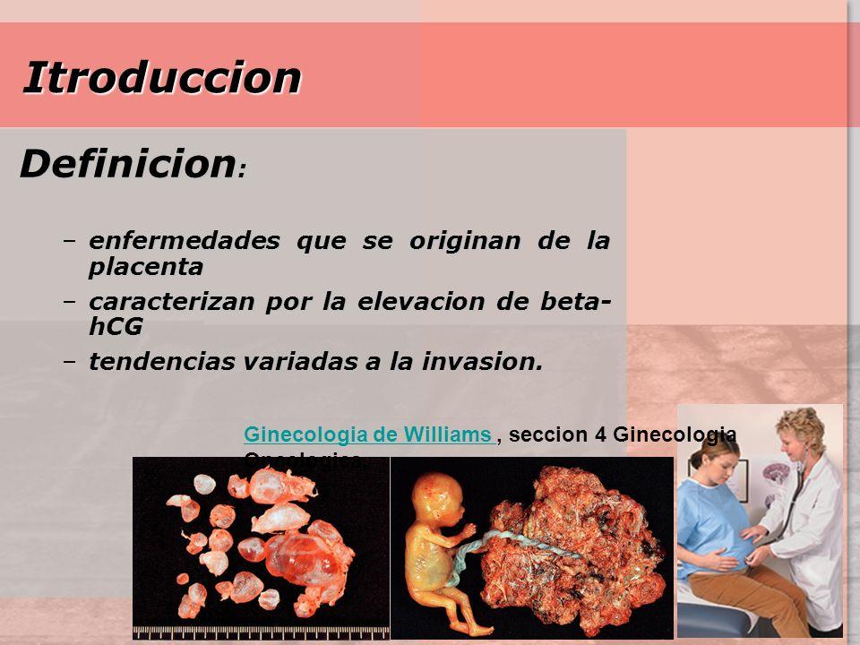 Itroduccion Definicion: enfermedades que se originan de la placenta