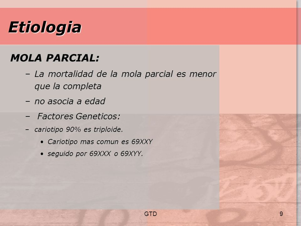 Etiologia MOLA PARCIAL: