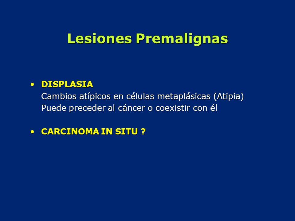 Lesiones Premalignas DISPLASIA