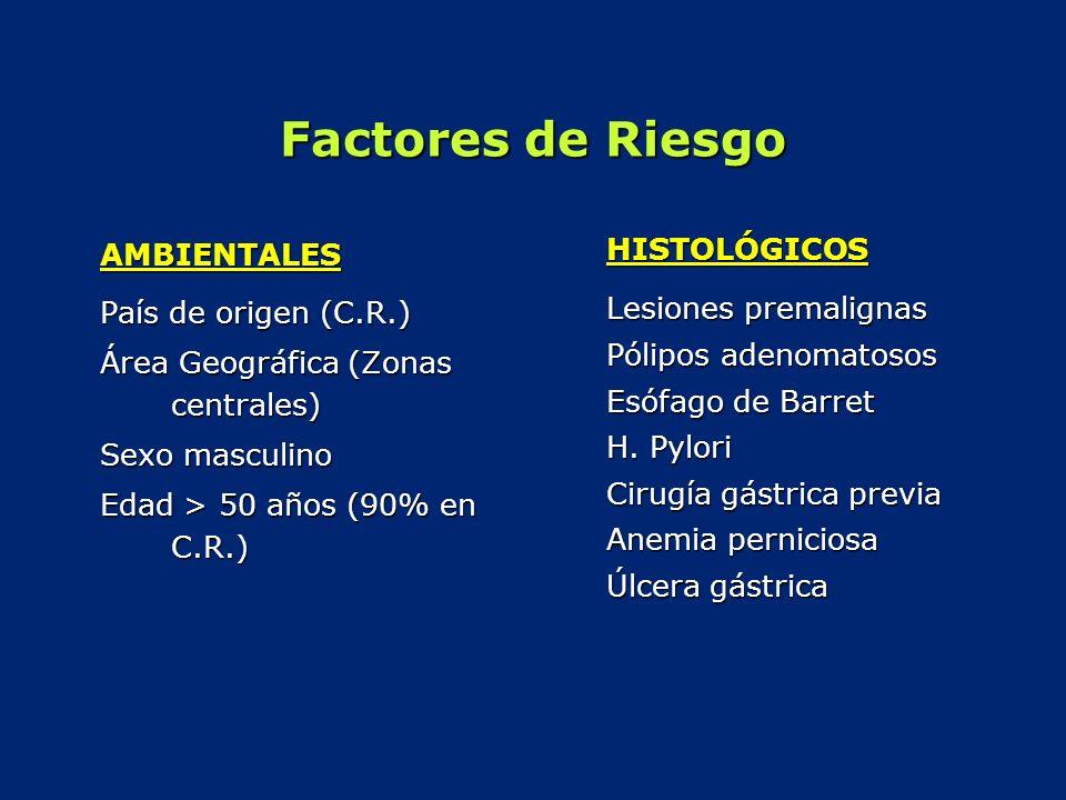 Factores de Riesgo HISTOLÓGICOS AMBIENTALES Lesiones premalignas