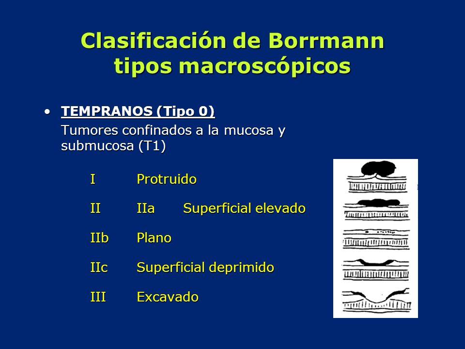 Clasificación de Borrmann tipos macroscópicos