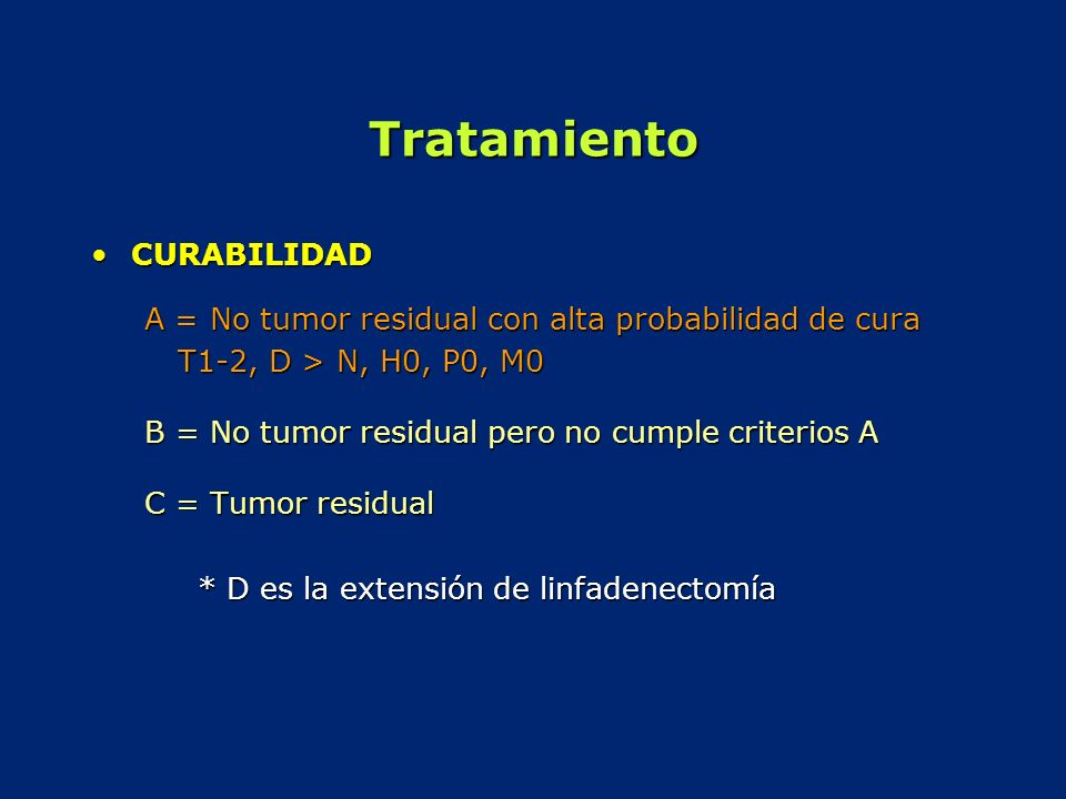 Tratamiento CURABILIDAD