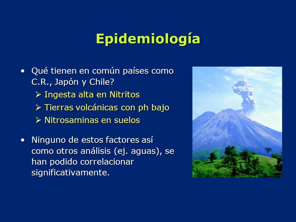 Epidemiología Qué tienen en común países como C.R., Japón y Chile