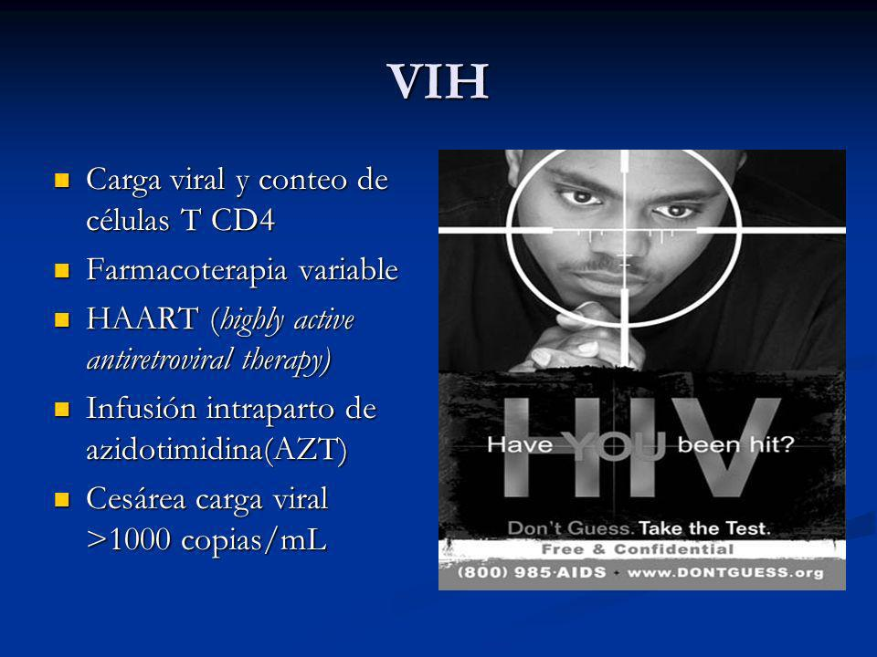 VIH Carga viral y conteo de células T CD4 Farmacoterapia variable